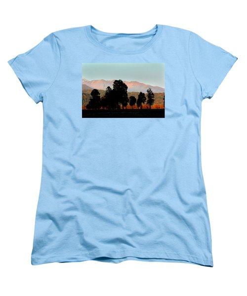 Women's T-Shirt (Standard Cut) featuring the photograph New Zealand Silhouette by Amanda Stadther