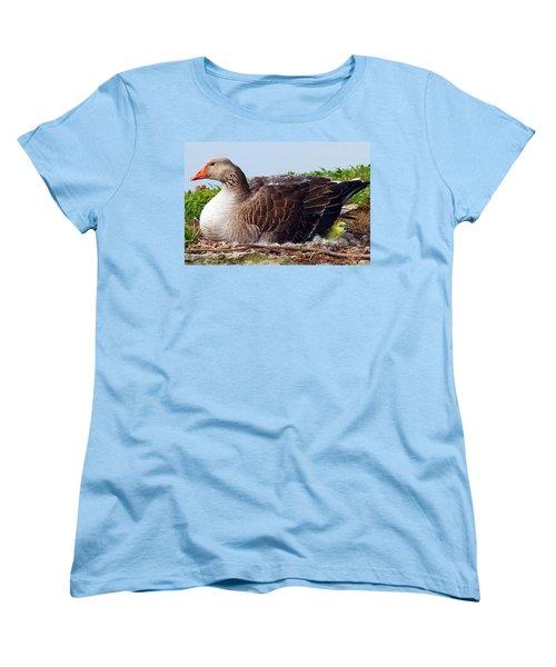 Women's T-Shirt (Standard Cut) featuring the photograph Newborn Peek by Elizabeth Winter