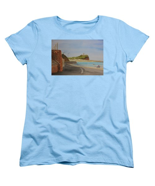 Women's T-Shirt (Standard Cut) featuring the painting Newcastle Nsw Australia by Tim Mullaney