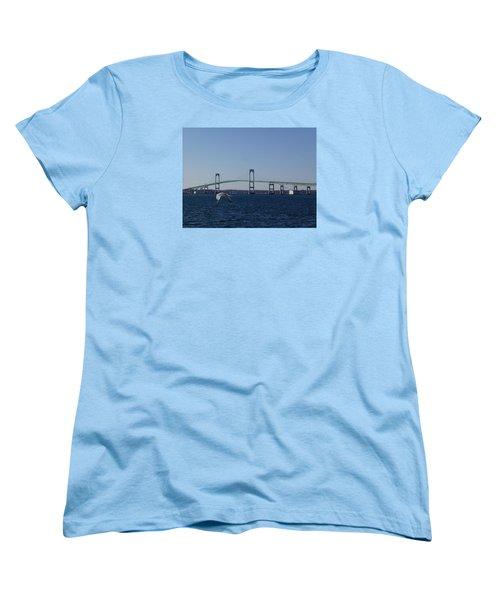 Newport Bridge Women's T-Shirt (Standard Cut) by Robert Nickologianis