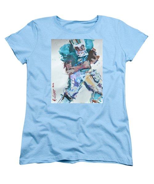 Nfl Football Painting Women's T-Shirt (Standard Cut) by Robert Joyner