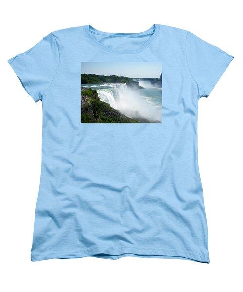 Niagara Falls Women's T-Shirt (Standard Cut) by Aimee L Maher Photography and Art Visit ALMGallerydotcom