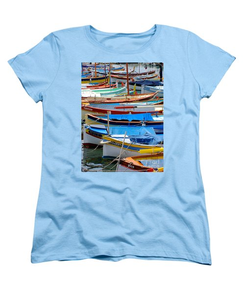 Nice Boats  Women's T-Shirt (Standard Cut) by Suzanne Oesterling