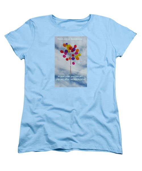Women's T-Shirt (Standard Cut) featuring the photograph No Boundaries by Emmy Marie Vickers
