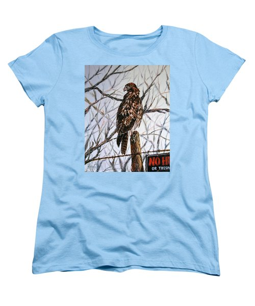 Women's T-Shirt (Standard Cut) featuring the painting No Hunting by Craig T Burgwardt