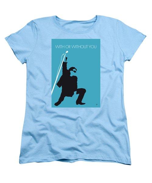 No035 My U2 Minimal Music Poster Women's T-Shirt (Standard Cut) by Chungkong Art