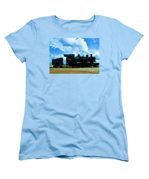 Norfolk Western Steam Locomotive 917 Women's T-Shirt (Standard Cut) by Janette Boyd