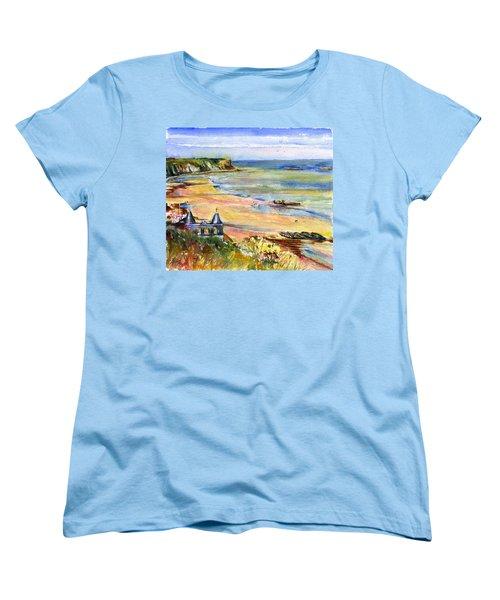 Normandy Beach Women's T-Shirt (Standard Cut) by John D Benson