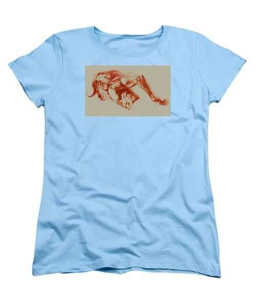 North American Minotaur Red Sketch Women's T-Shirt (Standard Cut) by Derrick Higgins