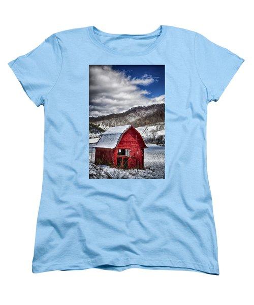 North Carolina Red Barn Women's T-Shirt (Standard Cut) by John Haldane