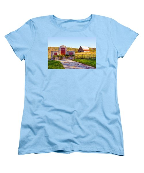 Women's T-Shirt (Standard Cut) featuring the photograph Landscape Barn North Georgia by Vizual Studio