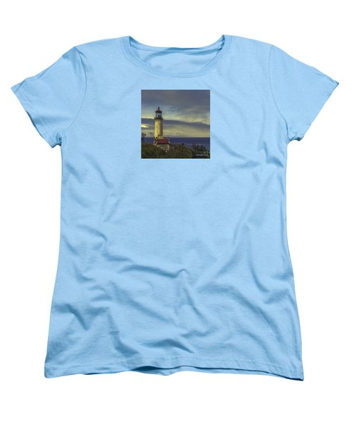 North Head Lighthouse Women's T-Shirt (Standard Cut) by Jean OKeeffe Macro Abundance Art