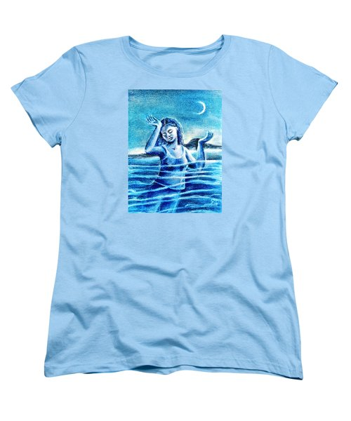 Not Waving But Drowning Women's T-Shirt (Standard Cut) by Trudi Doyle