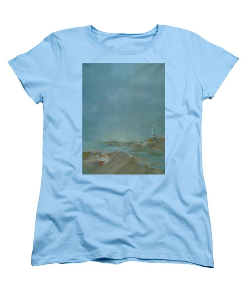 Women's T-Shirt (Standard Cut) featuring the painting Nova Scotia Fog by Judith Rhue