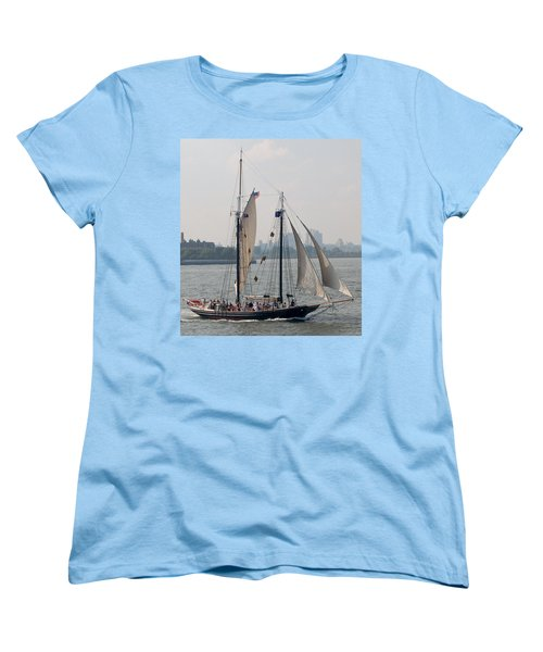 Ny Harbor Schooner Women's T-Shirt (Standard Cut)