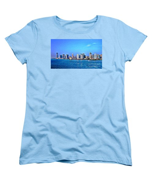 Women's T-Shirt (Standard Cut) featuring the photograph Nyc  The Big Apple  by Judy Palkimas