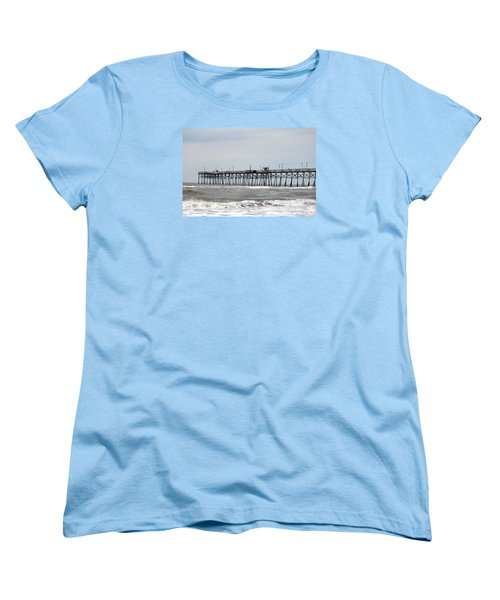 Oak Island Beach Pier Women's T-Shirt (Standard Cut)