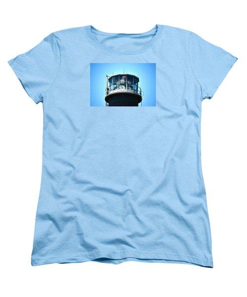Oak Island Lighthouse Beacon Lights Women's T-Shirt (Standard Cut) by Sandi OReilly