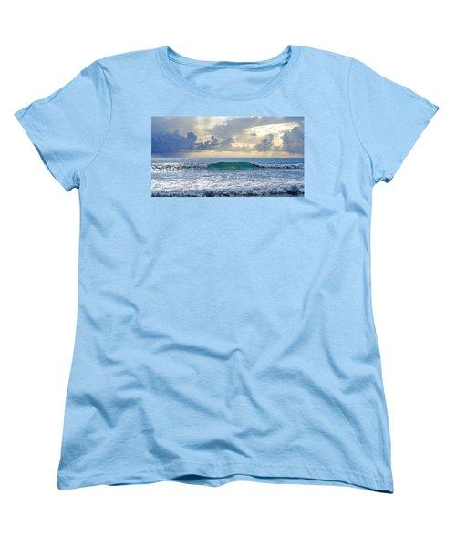 Ocean Blue Women's T-Shirt (Standard Cut) by Laura Fasulo