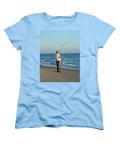 Women's T-Shirt (Standard Cut) featuring the photograph Ocean Fishing by Cynthia Guinn