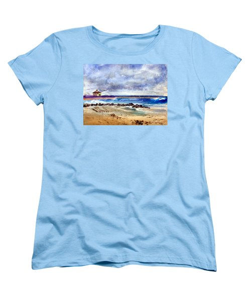 Ocean  Inlet Beach In Boynton Beach Women's T-Shirt (Standard Cut) by Donna Walsh