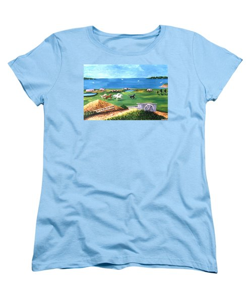 Ocean Ranch Women's T-Shirt (Standard Cut) by Lance Headlee