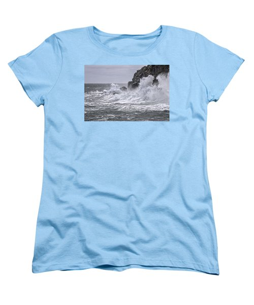 Ocean Surge At Gulliver's Women's T-Shirt (Standard Cut) by Marty Saccone