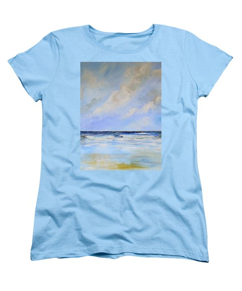 Women's T-Shirt (Standard Cut) featuring the painting Ocean View by Dorothy Maier