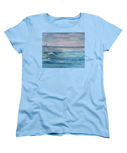 Women's T-Shirt (Standard Cut) featuring the painting Oceans Of Color by Diane Pape