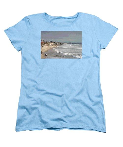 Oceanside South Of Pier Women's T-Shirt (Standard Cut) by Tom Janca