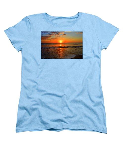 Women's T-Shirt (Standard Cut) featuring the photograph October Beach by Dianne Cowen