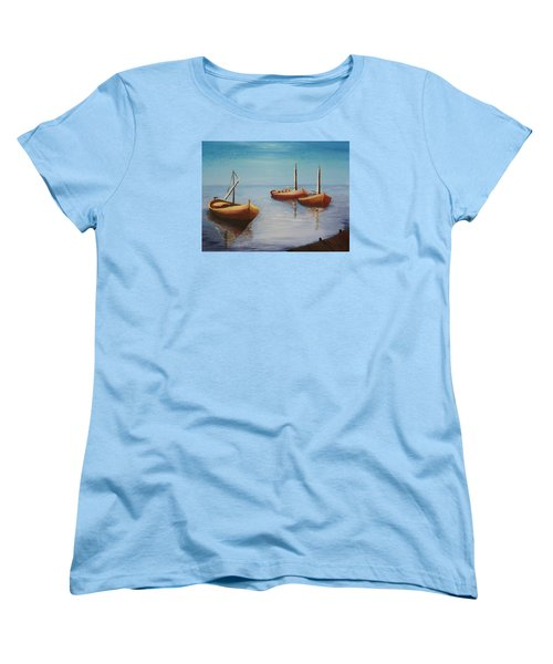 Oil Msc 023  Women's T-Shirt (Standard Cut) by Mario Sergio Calzi