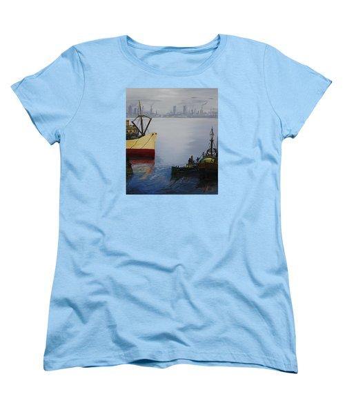 Oil Msc 025  Women's T-Shirt (Standard Cut) by Mario Sergio Calzi