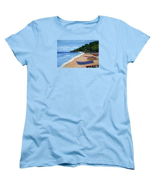 Olas De Crashboat Women's T-Shirt (Standard Cut) by Luis F Rodriguez