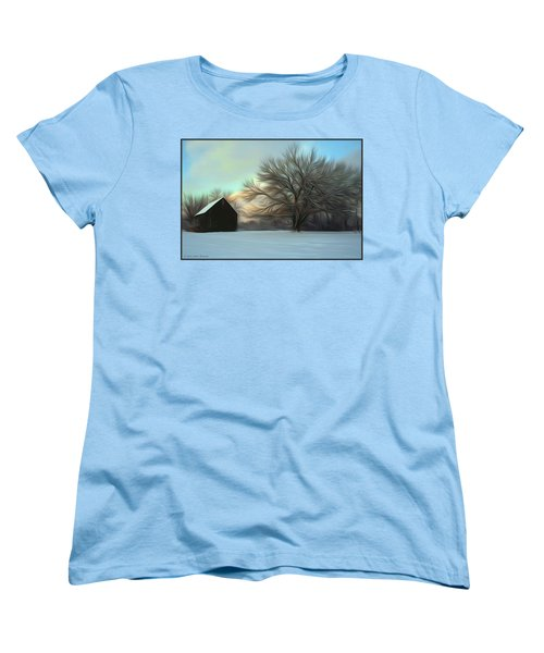 Old Barn In Snow Women's T-Shirt (Standard Cut)