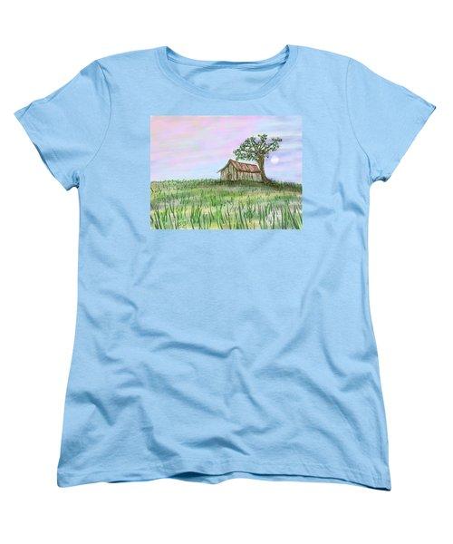 Old Barn Women's T-Shirt (Standard Cut) by Stacy C Bottoms