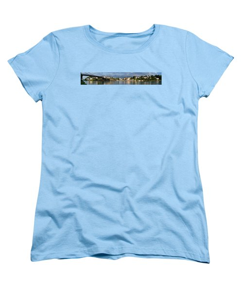 Old Bridge Over The Sea, Le Bono, Gulf Women's T-Shirt (Standard Cut) by Panoramic Images