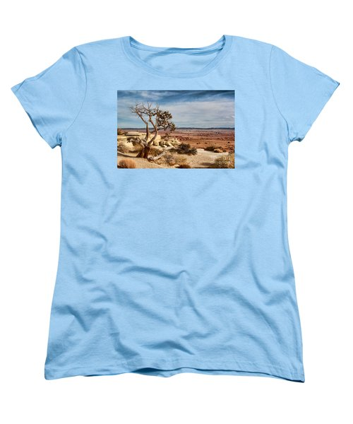 Old Desert Cypress Struggles To Survive Women's T-Shirt (Standard Cut) by Michael Flood