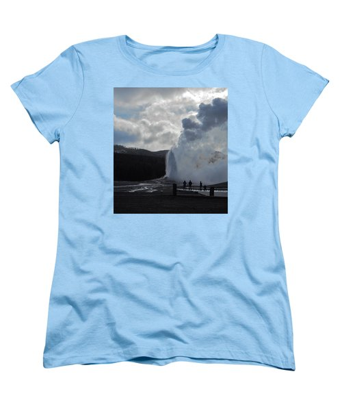 Women's T-Shirt (Standard Cut) featuring the photograph Old Faithful Morning by Michele Myers
