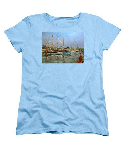 Old Gaffers  Yarmouth  Isle Of Wight Women's T-Shirt (Standard Cut) by Jennifer Wright