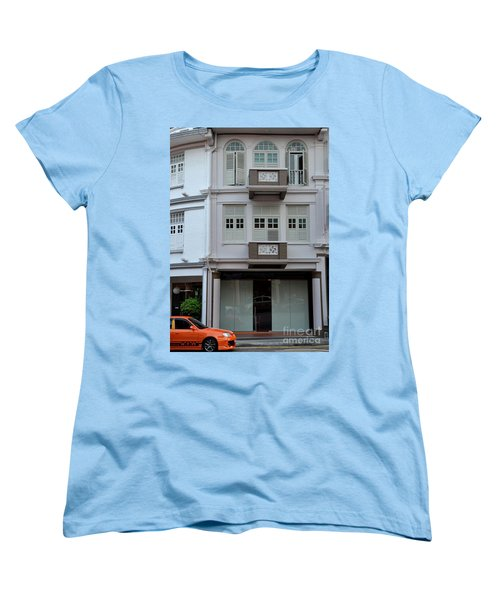 Women's T-Shirt (Standard Cut) featuring the photograph Old House And Funky Orange Car by Imran Ahmed