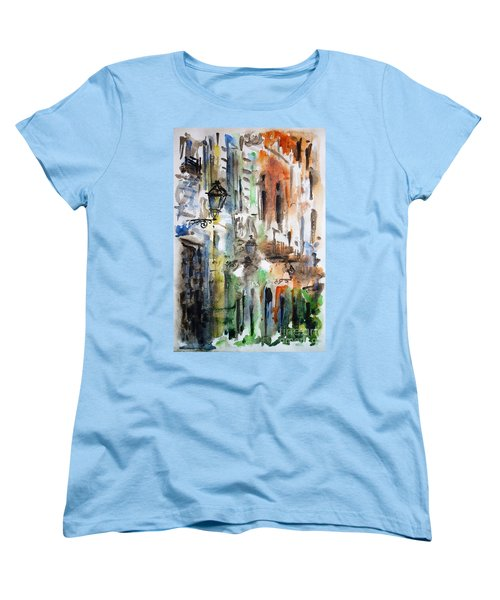 Old Houses Of San Juan Women's T-Shirt (Standard Cut) by Zaira Dzhaubaeva