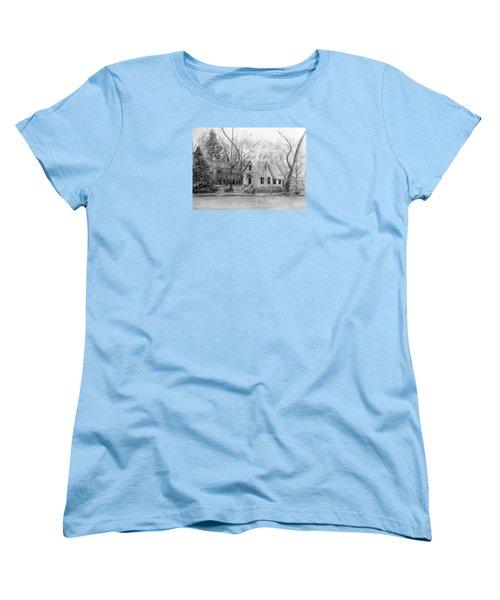 Old Library On Lake Afton - Winter Women's T-Shirt (Standard Cut) by Loretta Luglio