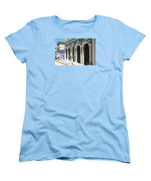 Women's T-Shirt (Standard Cut) featuring the photograph Old San Juan Street by The Art of Alice Terrill