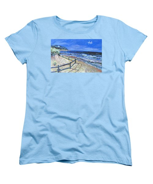 Old Silver Beach Women's T-Shirt (Standard Cut) by Rita Brown
