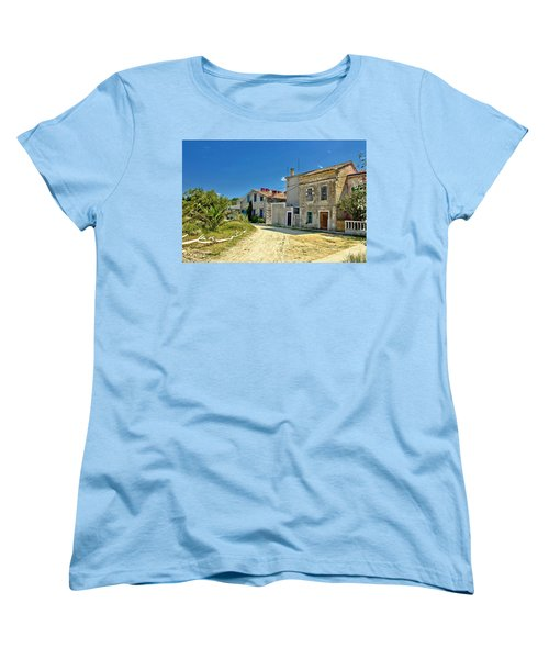 Old Streets Of Susak Island Women's T-Shirt (Standard Cut) by Brch Photography