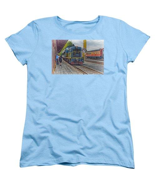 Old Town Sacramento Railroad Women's T-Shirt (Standard Cut) by Jim Thompson