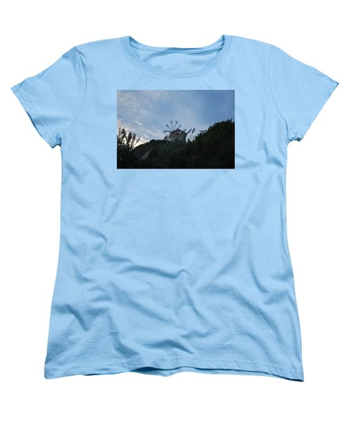 Old Wind Mill 1830 Women's T-Shirt (Standard Cut) by George Katechis