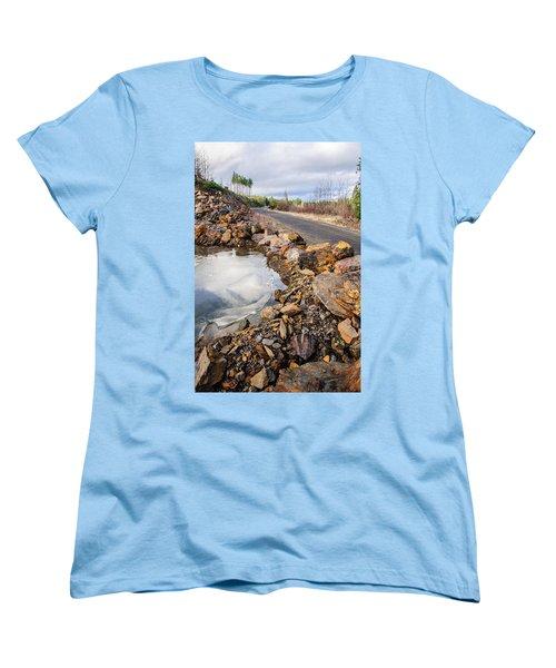 On Frozen Pond Collection 6 Women's T-Shirt (Standard Cut) by Roxy Hurtubise