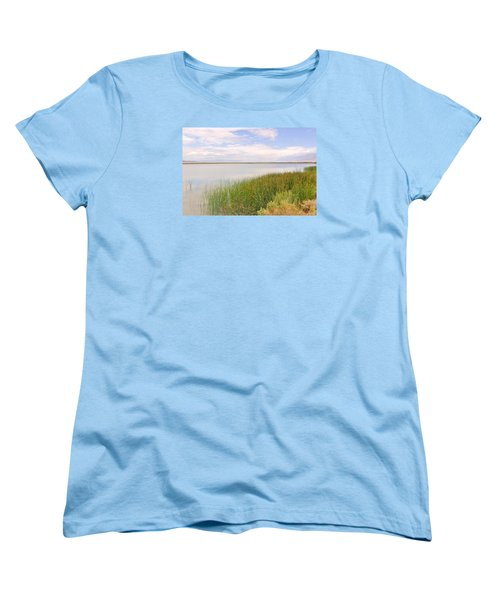 Women's T-Shirt (Standard Cut) featuring the photograph On Shore by Marilyn Diaz